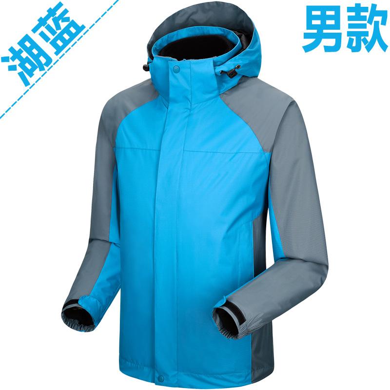 男女款户外两件套三合一冲锋衣可定制LOGO