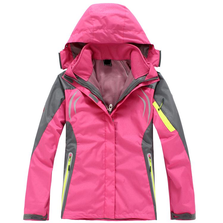 CFY003 在路上女款户外两件套反光冲锋衣