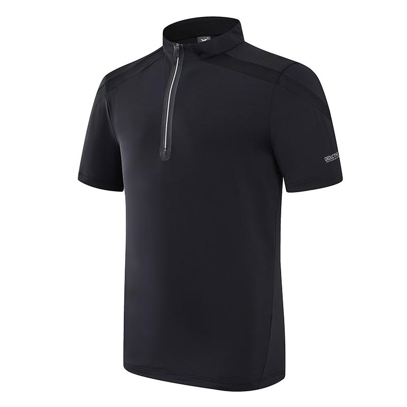 轻量型拉链短袖T恤定制团购